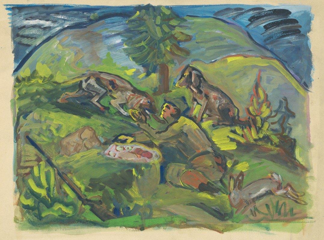 Arnold Peter Weisz-Kubínčan - Hunting Motif
