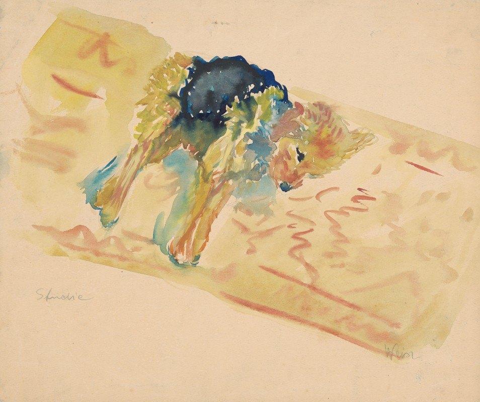 Arnold Peter Weisz-Kubínčan - Reclining Dog