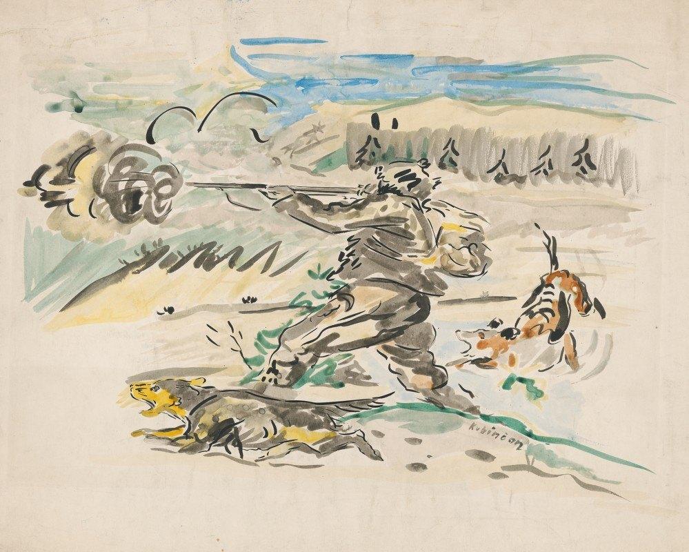 Arnold Peter Weisz-Kubínčan - Shooting Huntsman