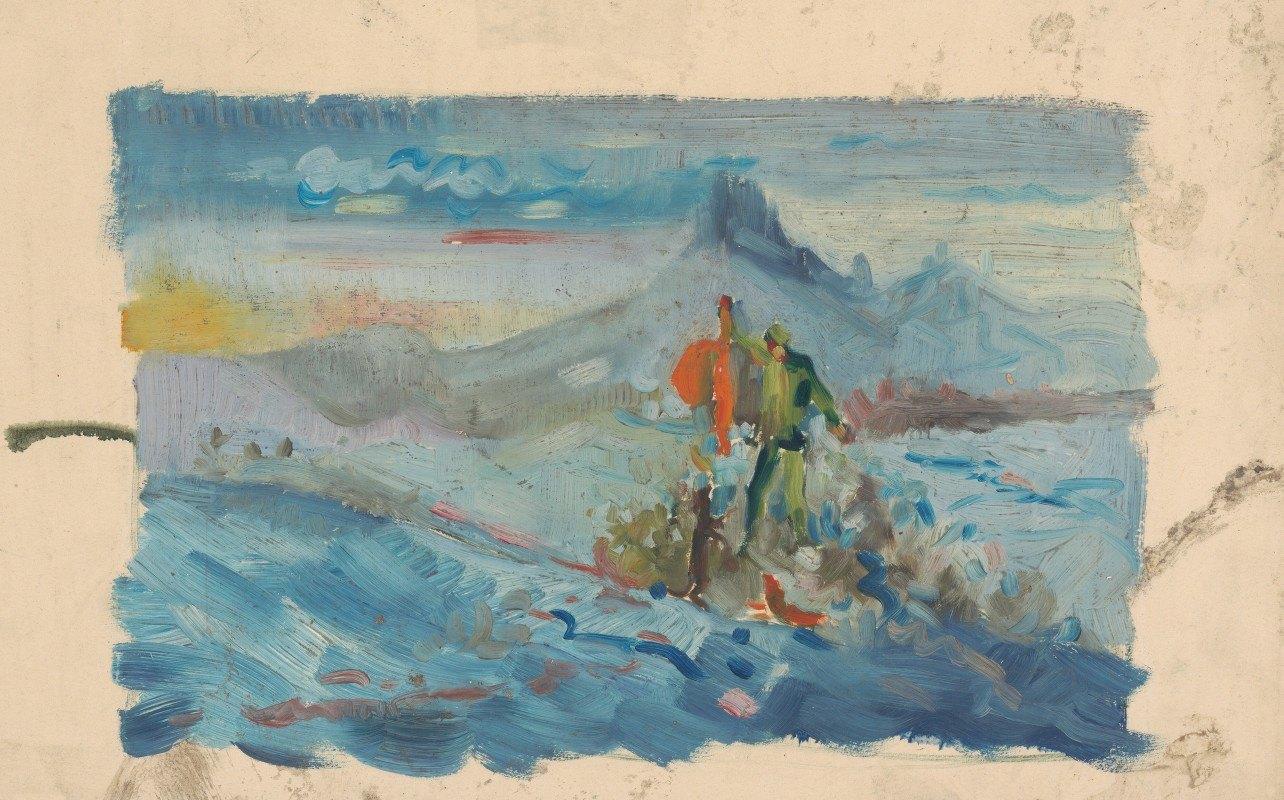 Arnold Peter Weisz-Kubínčan - Hunters in a Landscape