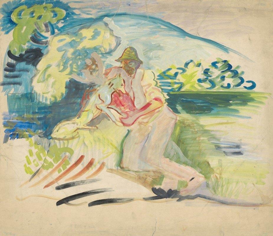 Arnold Peter Weisz-Kubínčan - Man with a Dog