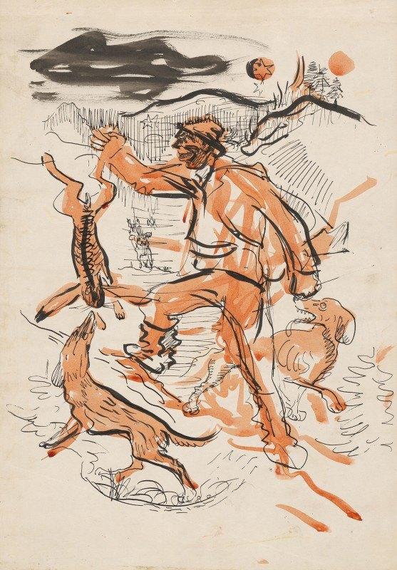 Arnold Peter Weisz-Kubínčan - Night Hunt