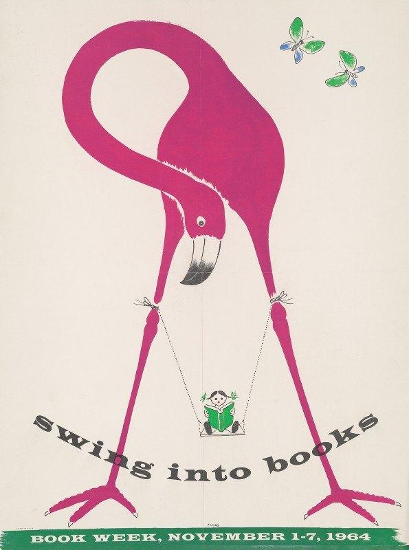 Bruno Munari - Swing into books. Book week, November 1-7, 1964