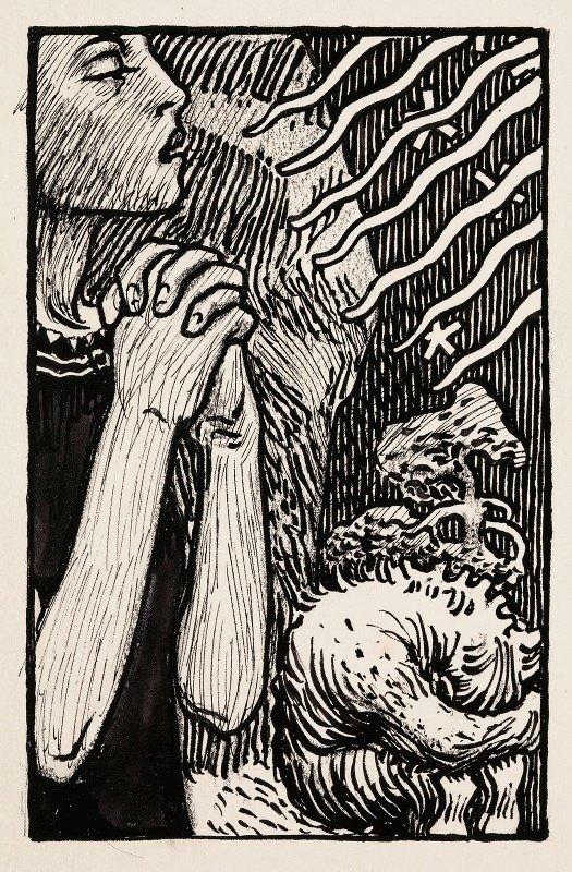Akseli Gallen-Kallela - Sketch for the Praying Impene