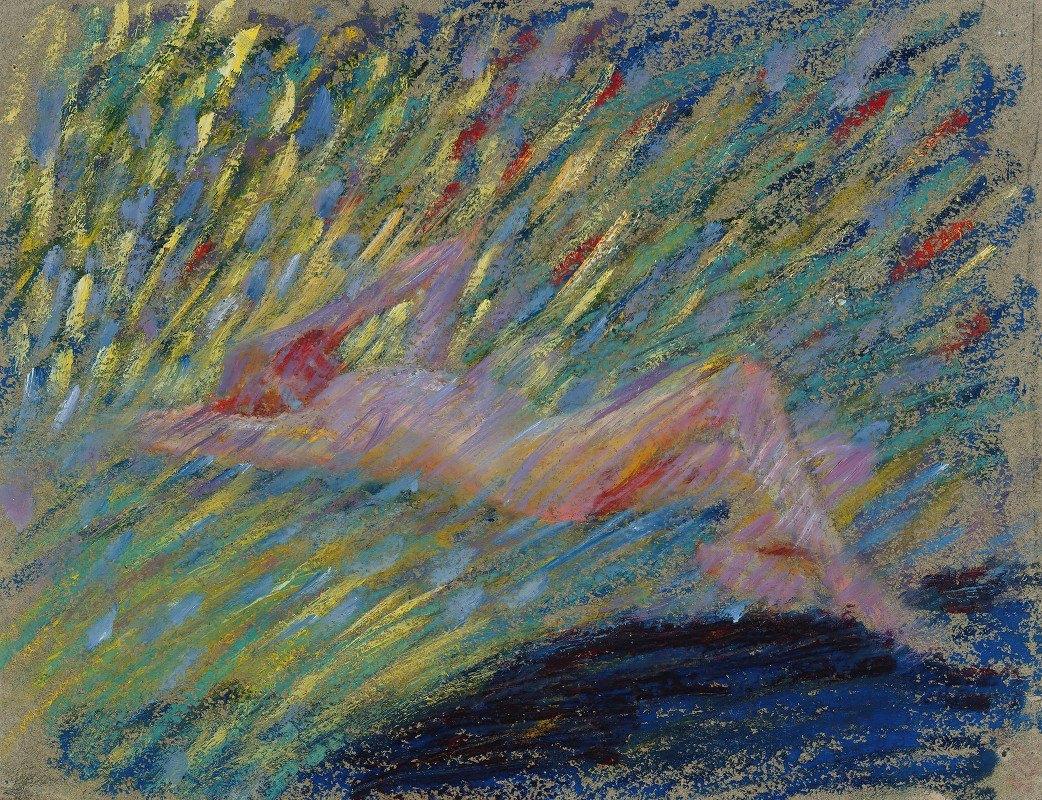 Maria Wiik - Nude lying female model