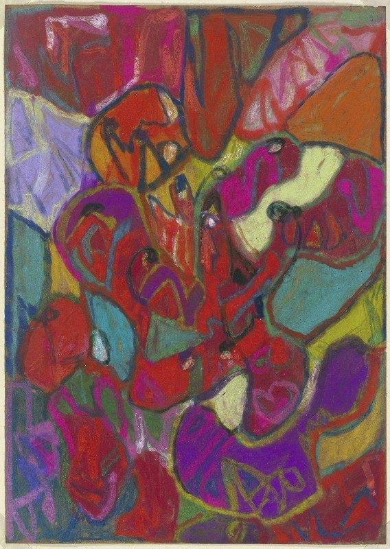 Adolf Hölzel - Abstrakte Komposition, Hochformat
