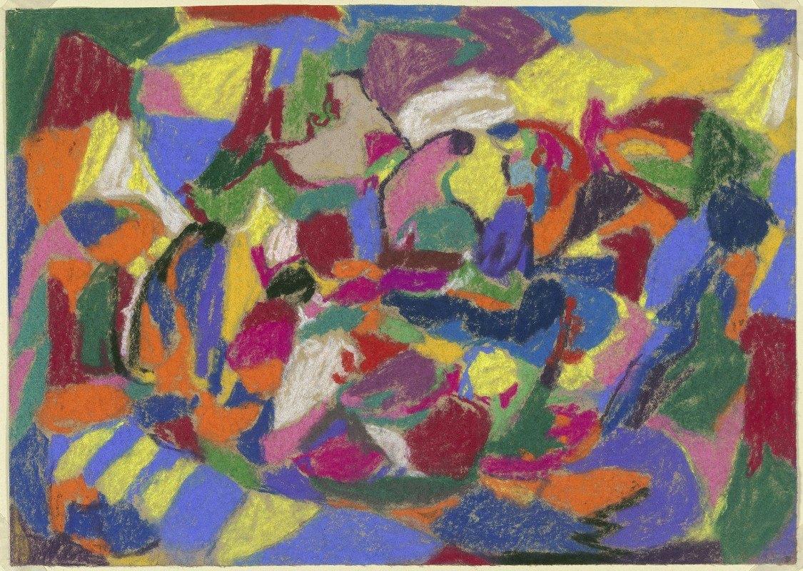 Adolf Hölzel - Abstrakte Komposition, Querformat
