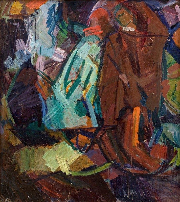 Edvard Weie - Study after Delacroix's 'Dante og Vergil'