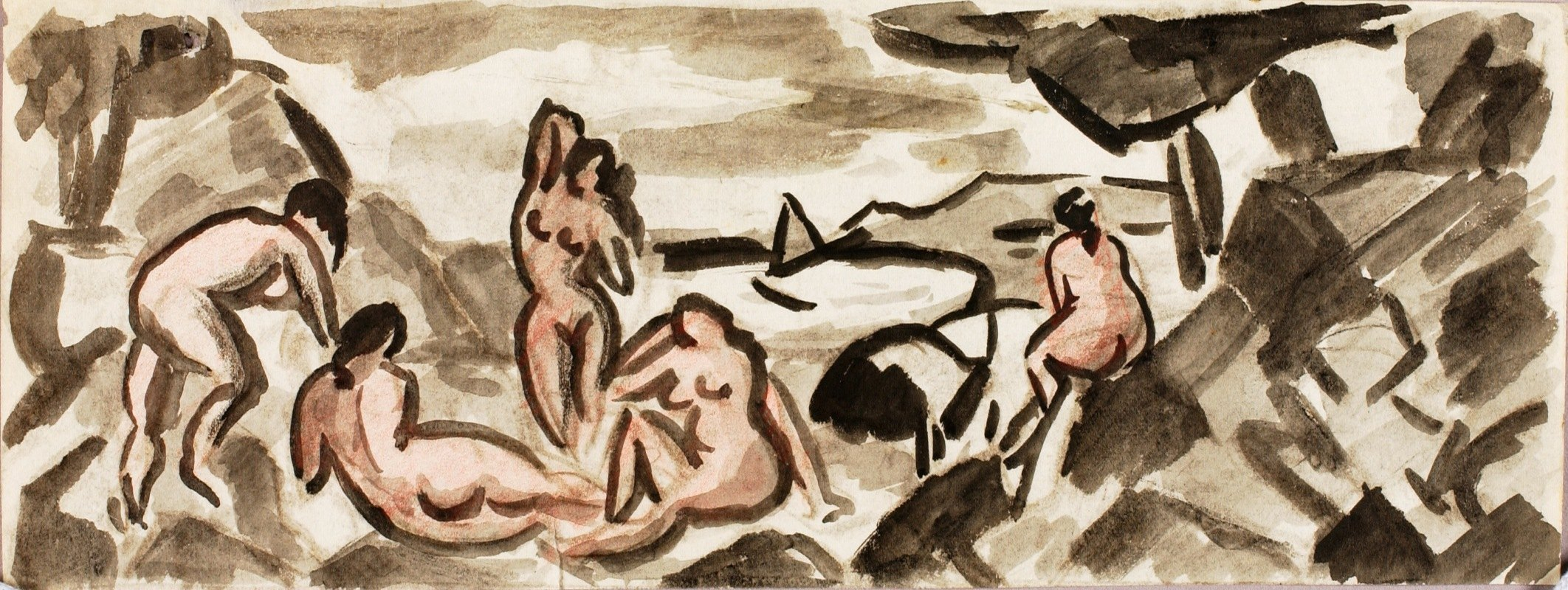 Carl Newman - Group of Female Nudes