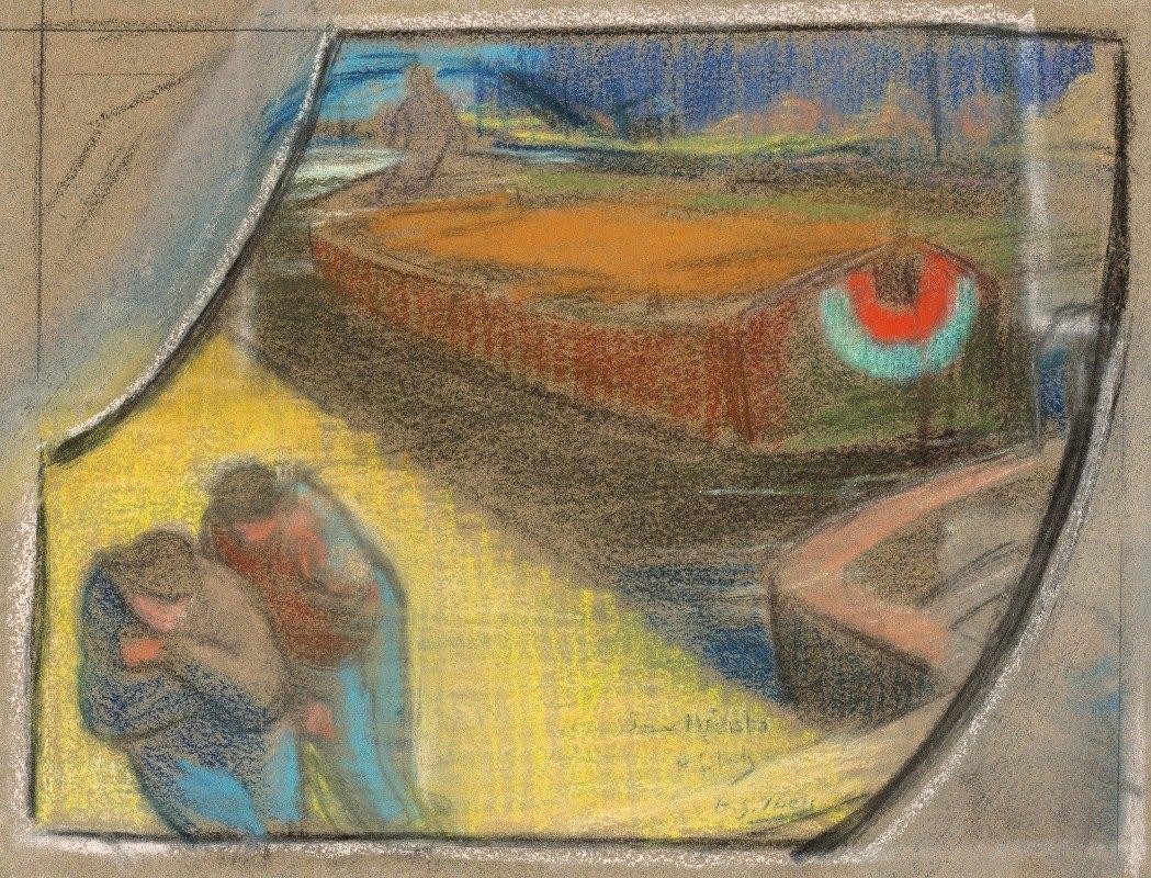 Henri-Gabriel Ibels - Men Towing a Barge (Study for Boubourouche)