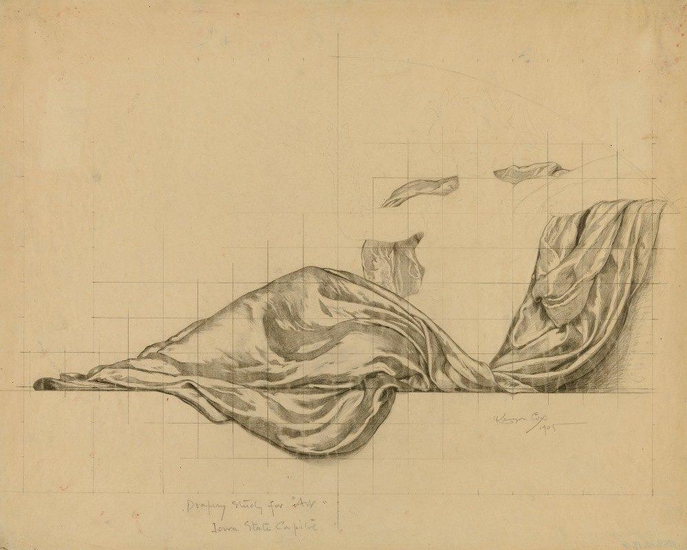 Kenyon Cox - (Iowa State Capitol Rotunda) (Art, study for panel)