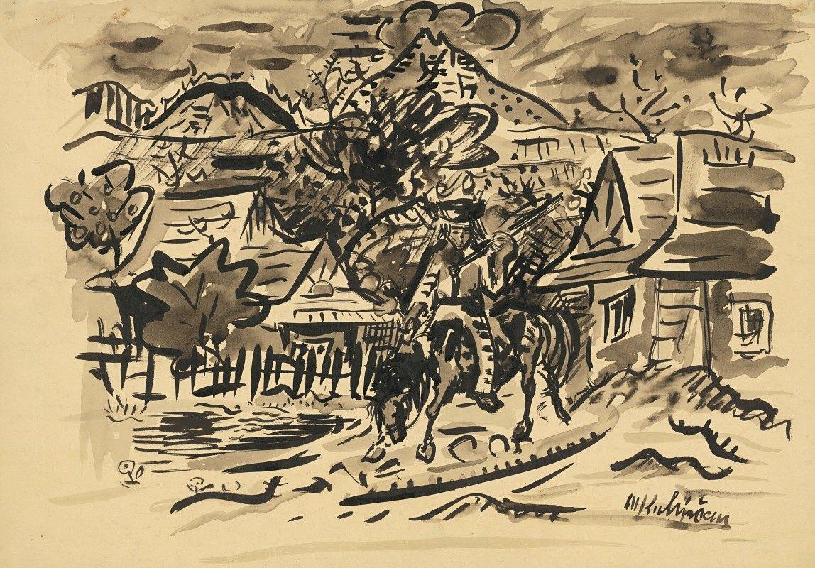 Arnold Peter Weisz-Kubínčan - A man from Orava on a horse