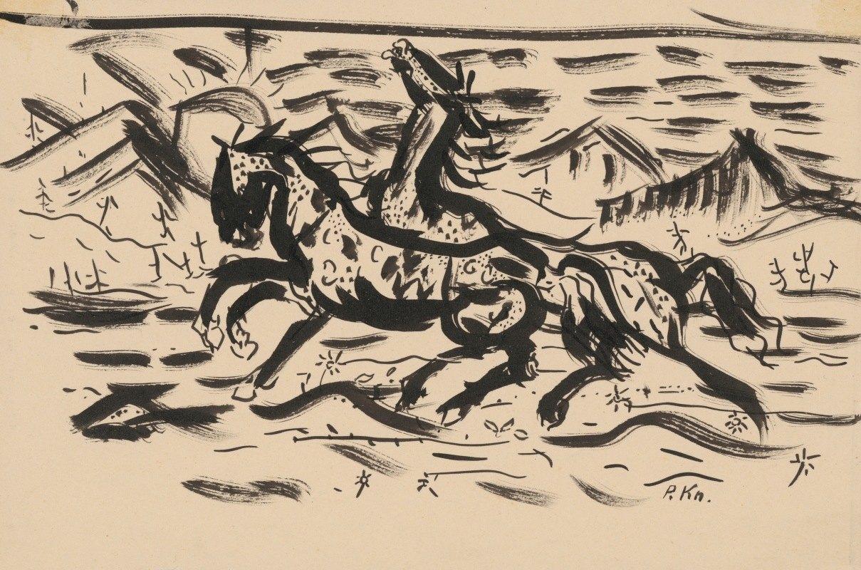 Arnold Peter Weisz-Kubínčan - Galloping horses