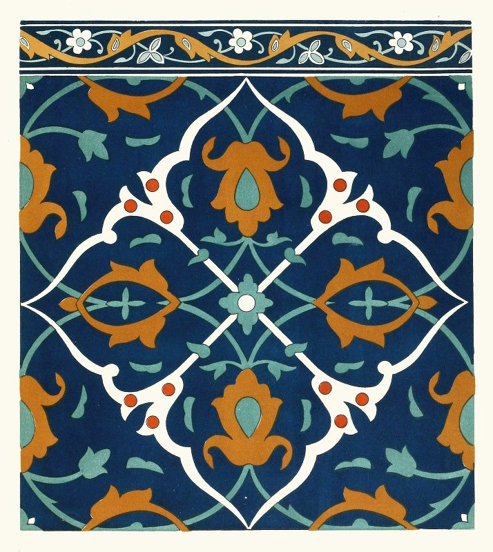 Afghan Boundary Commission - 18 plates of ornamental tiles from the Afghan Boundary Commission Pl 12