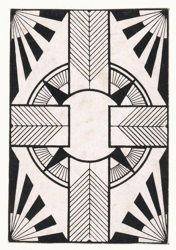 Samuel Jessurun de Mesquita - Ornament met cirkel en kruis