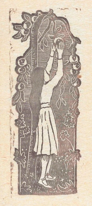 Lucien Pissarro - Meisje appels plukkend