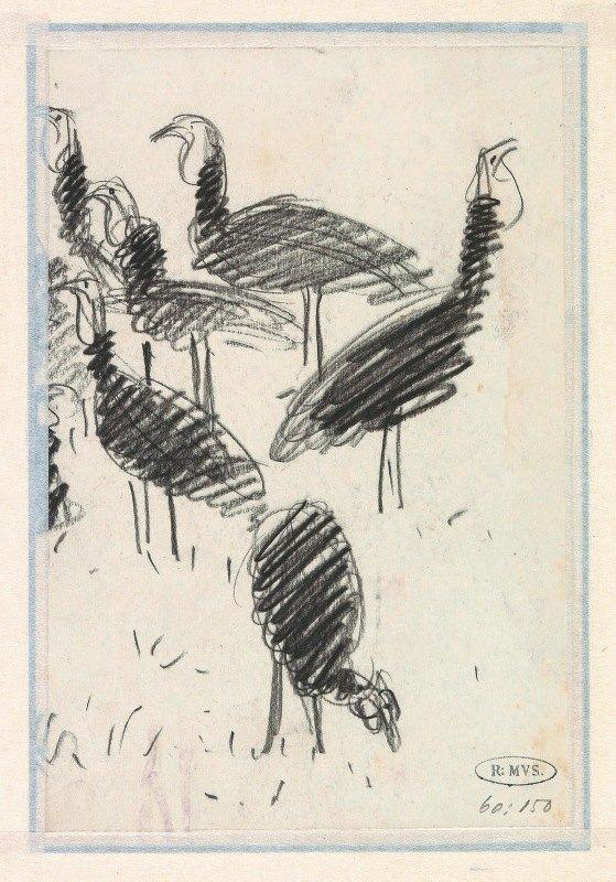 Lucien Pissarro - Zes vogels