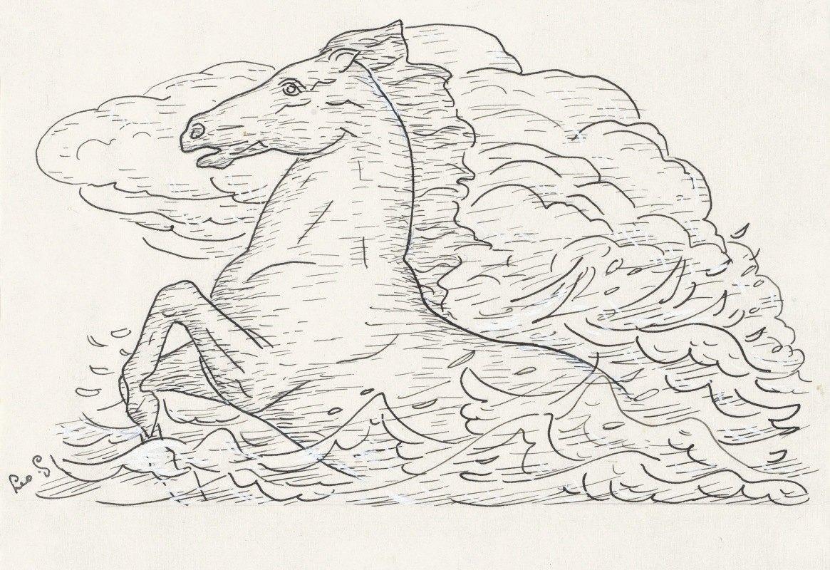 Leo Gestel - Paard in zee