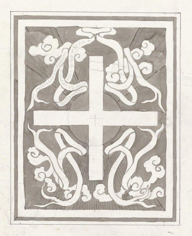 Carel Adolph Lion Cachet - Ontwerp met een kruis