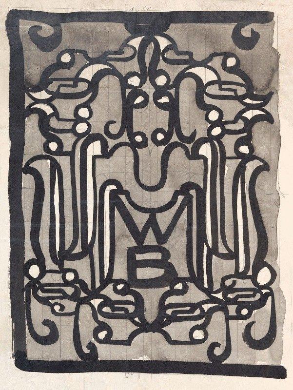 Carel Adolph Lion Cachet - Ontwerp van een vignet () voor de Wereldbibliotheek