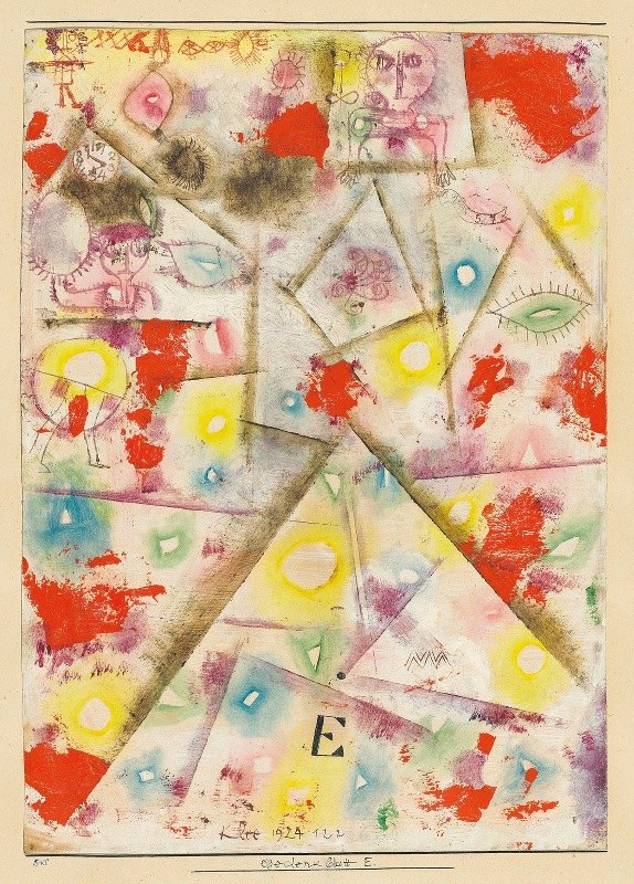 Paul Klee - Gedenkblatt E