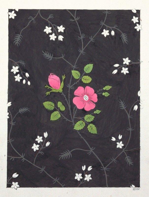 Anonymous - Floral design for printed textile Pl XXXIX