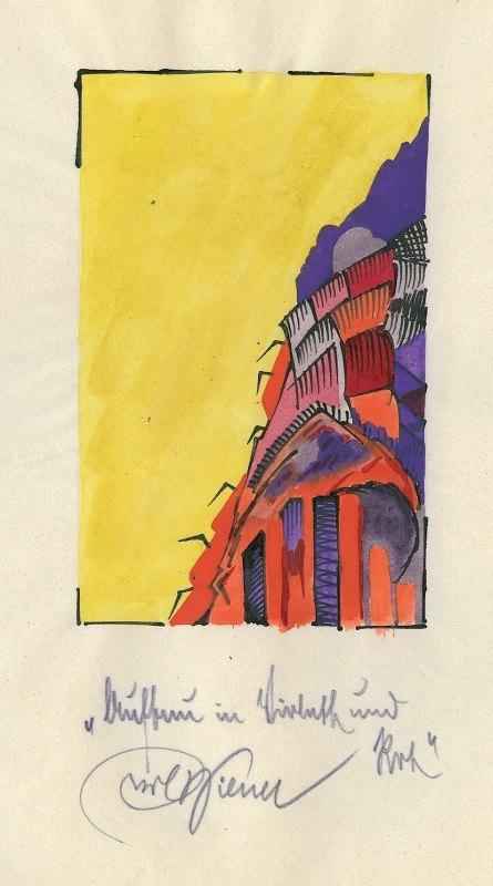 Karl Wiener - Aufbau in Violett und Rot