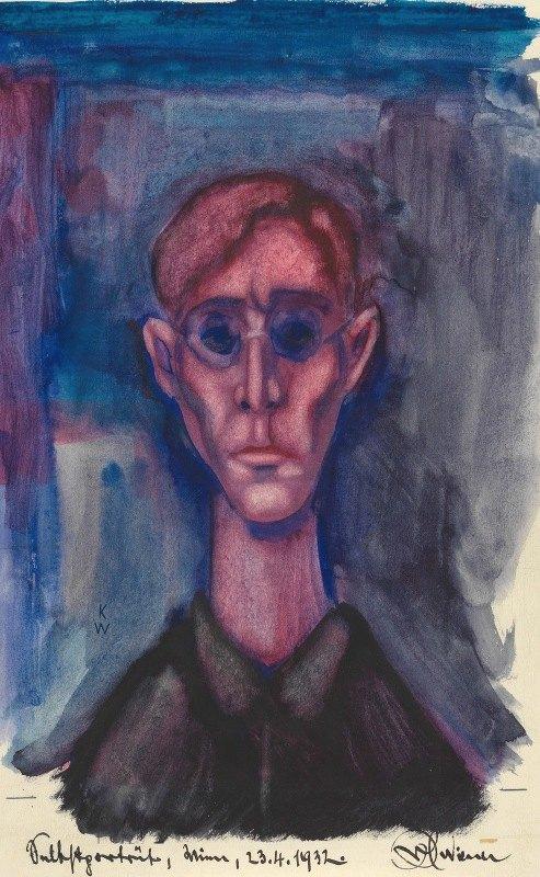 Karl Wiener - Depression, Selbstporträt