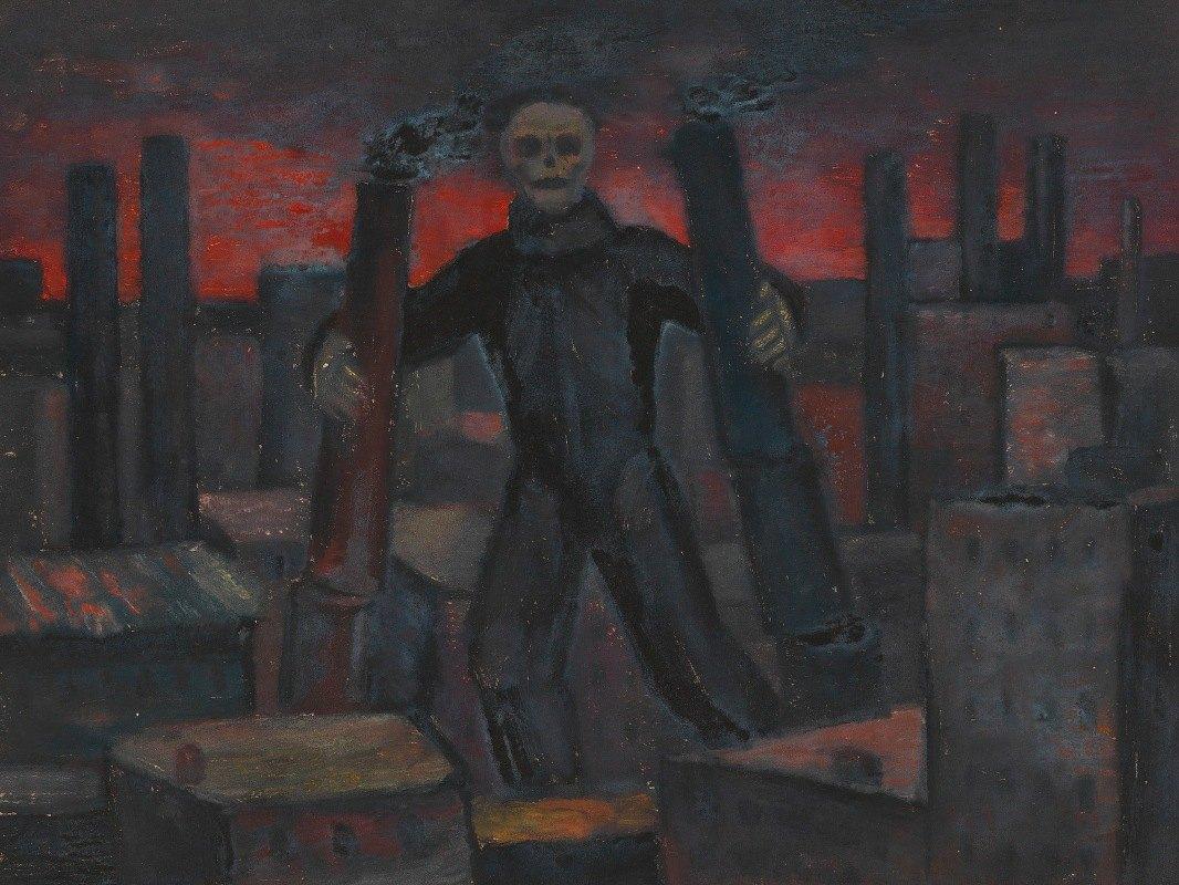 Karl Wiener - Ohne Titel (Tod mit rauchenden Schloten)