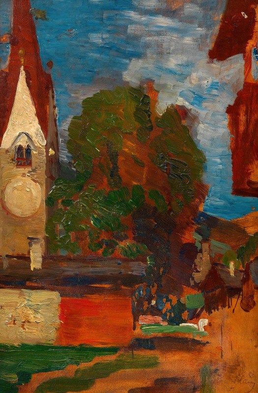 Tina Blau - Kirche in Taufers (Dorfplatz)