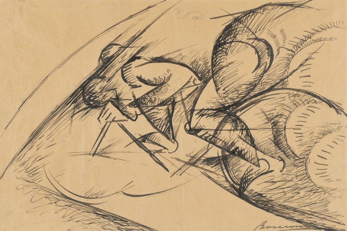 Umberto Boccioni - Study for Dynamic Force of a CyclistI