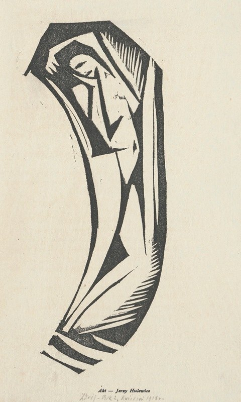 Jerzy Hulewicz - Nude V (Nude in the shape of the reversed letter C)