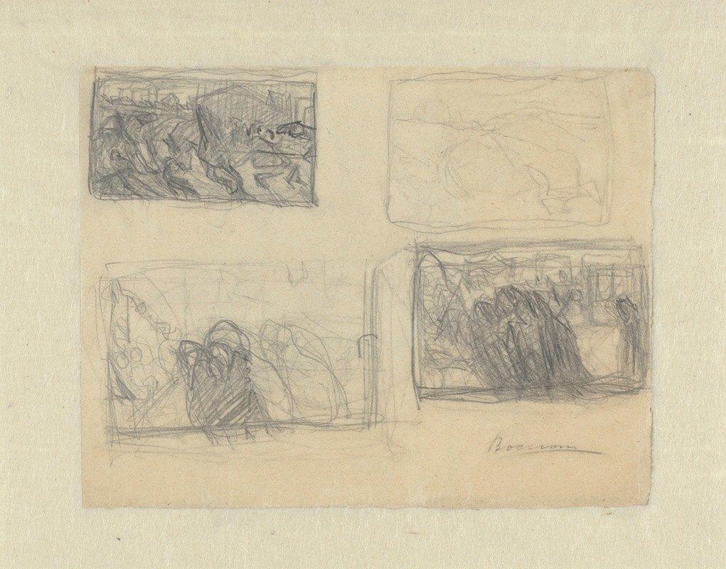 Umberto Boccioni - Sheet of Studies