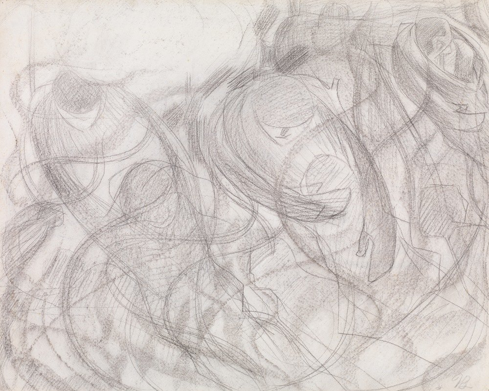 Umberto Boccioni - States of Mind; The Farewells