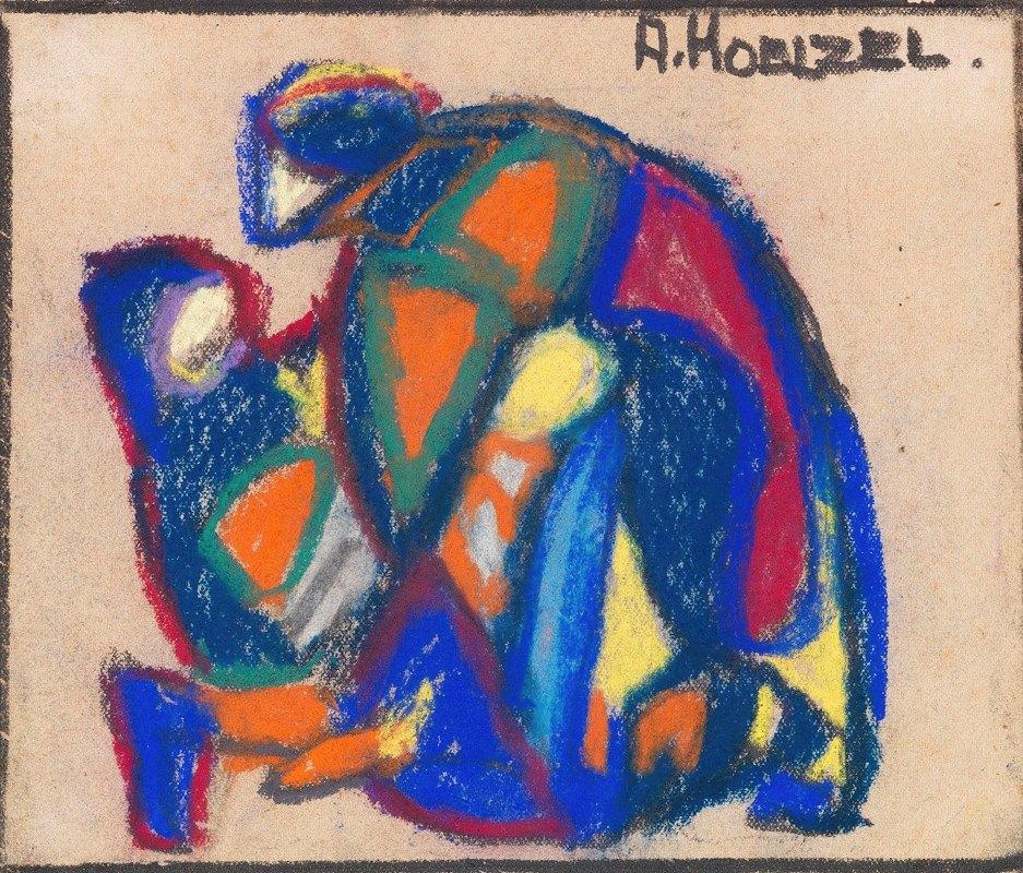 Adolf Hölzel - Figürliche Komposition (der verlorene Sohn)
