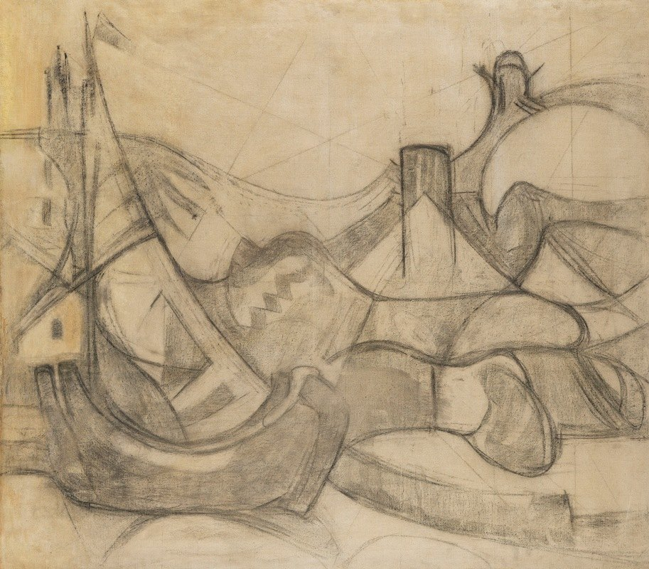 Adolf Hölzel - Segelboote vor Knokke