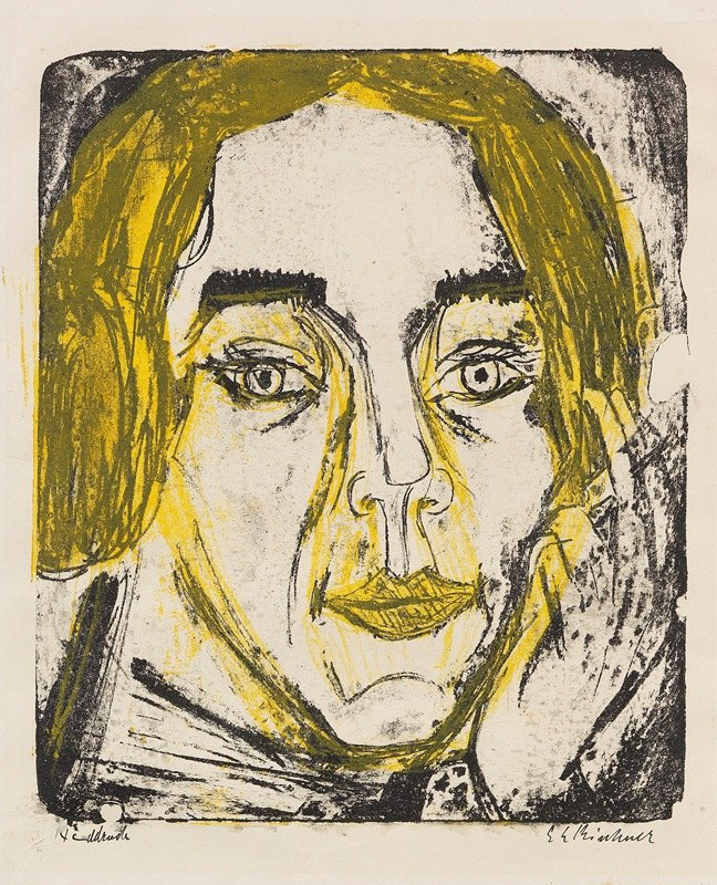 Ernst Ludwig Kirchner - Kopf Mary Wigmann