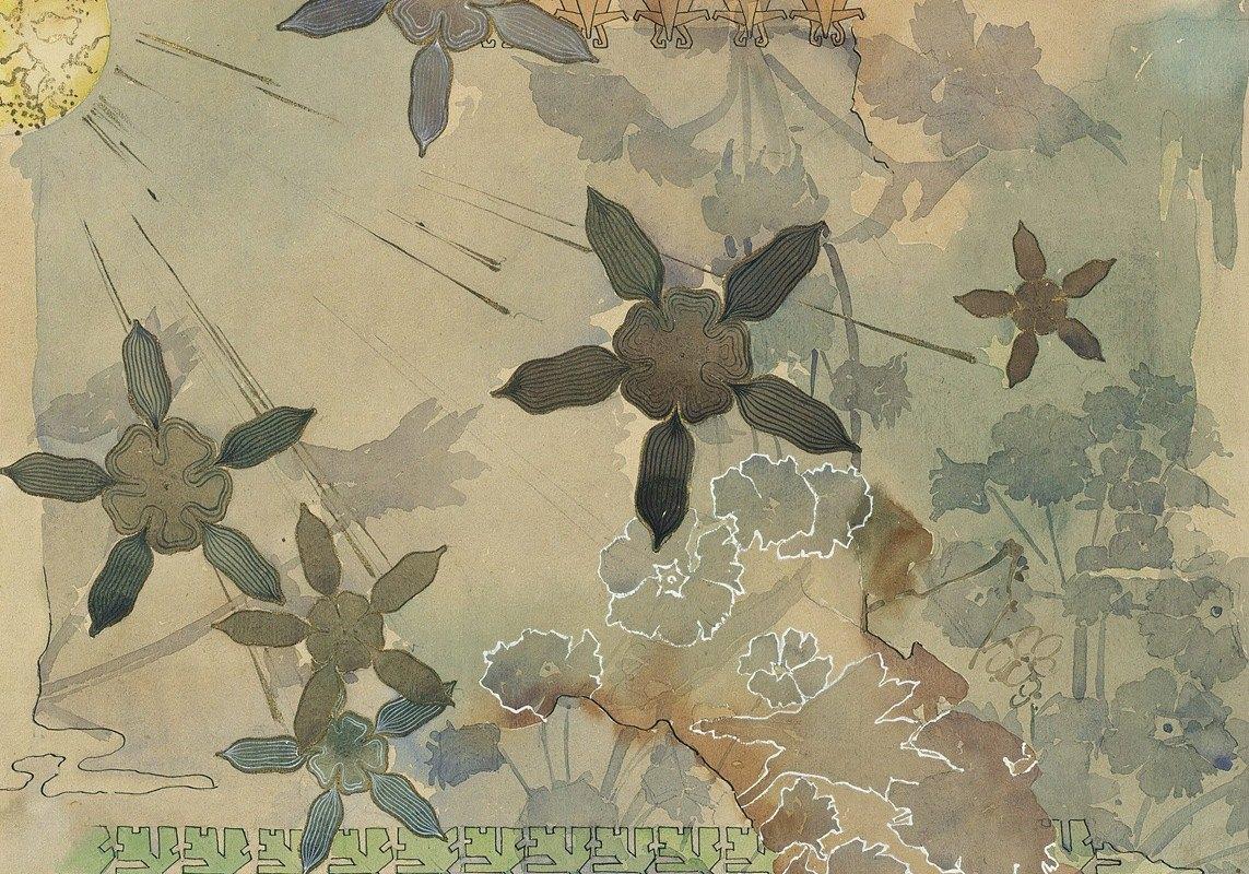Augusto Giacometti - Stylised Plants (Study)