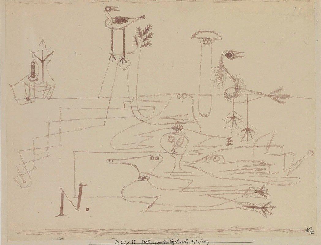 Paul Klee - Drawing For Bird Islands
