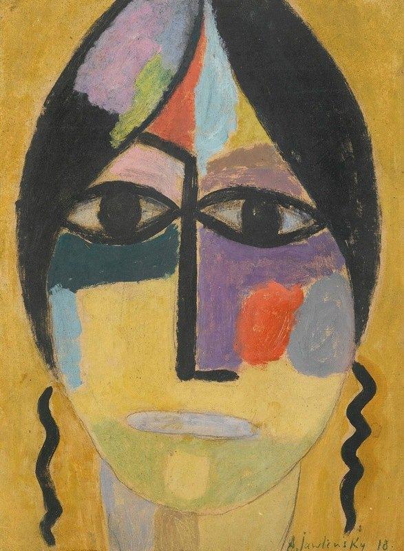 Alexej von Jawlensky - Mystischer Kopf; Rabenflügel Iv (Mystical Head; Raven's Wing Iv)