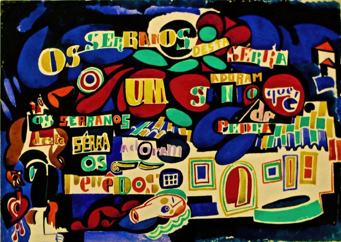 Amadeo de Souza-Cardoso - Serrana poem in colour