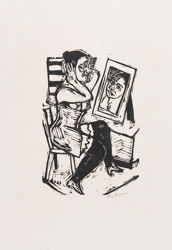 Max Beckmann - Toilette (Vorm Spiegel)