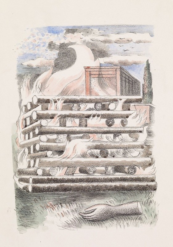 Paul Nash - Design for Urne Buriall – Funeral Pyre