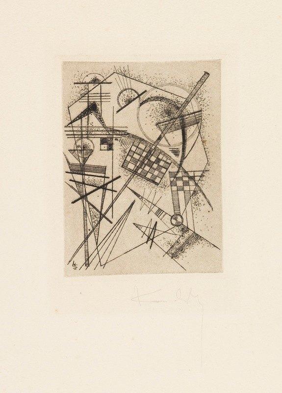 Wassily Kandinsky - Radierung für die 'Deutsche Kunstgemeinschaft'