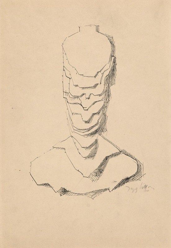 Jacques Villon - Abstract Construction(Baudelaire)