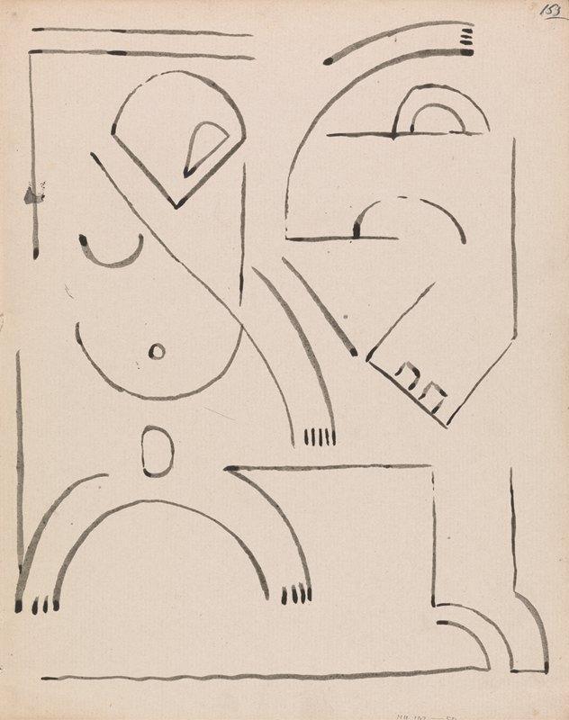 Henri Gaudier-Brzeska - Abstract Figure Composition