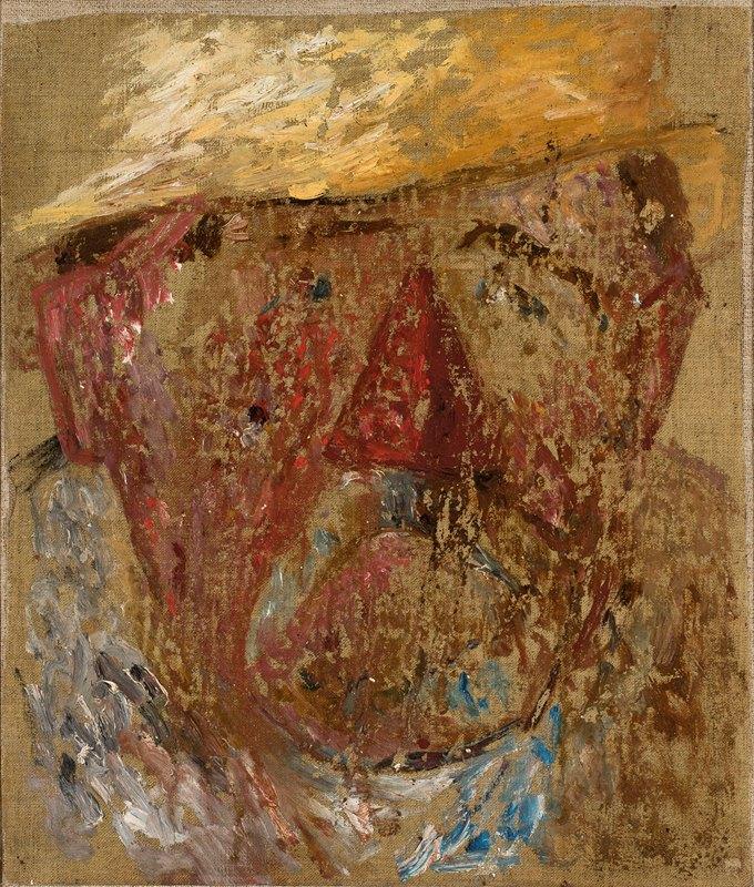 Tadeusz Makowski - Głowa mężczyzny w słomkowym kapeluszu