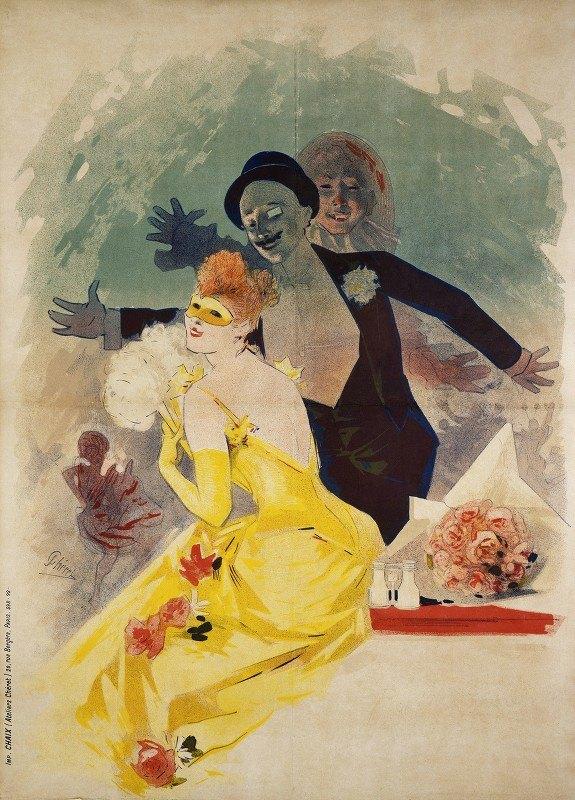 Jules Chéret - Opéra, Carnaval 1892, 1er Bal Masqué