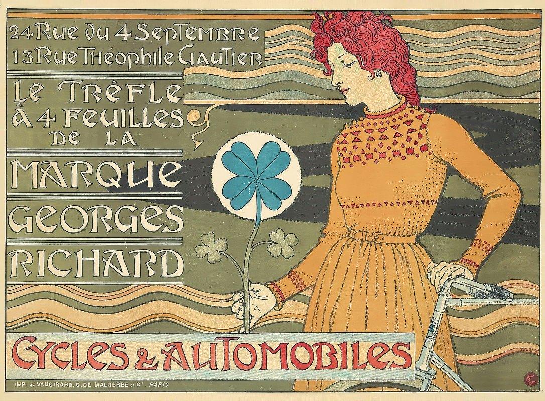 Eugène Grasset - Marque Georges Richard, Cycles & Automobiles