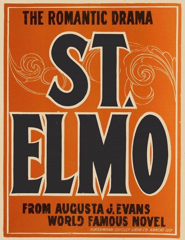 Ackermann-Quigley Litho. Co - St. Elmo the romantic drama